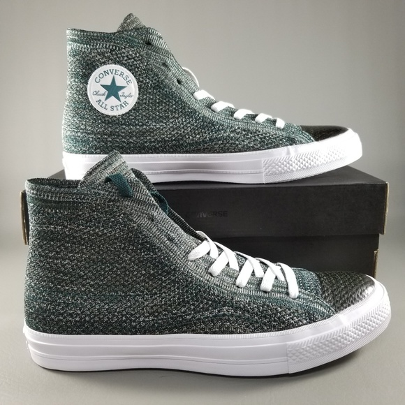 Converse CTAS X Nike Flyknit Mens Shoe SZ 10 Green